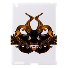Demon Tribal Mask Apple iPad 3/4 Hardshell Case (Compatible with Smart Cover)