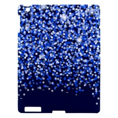 Blue Glitter Rain Apple Ipad 3/4 Hardshell Case