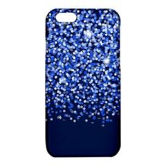 Blue Glitter Rain iPhone 6/6S TPU Case