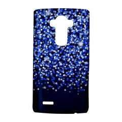 Blue Glitter Rain LG G4 Hardshell Case