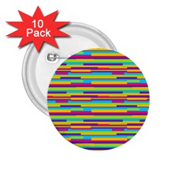 Colorful Stripes Background 2.25  Buttons (10 pack)