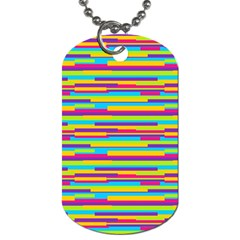 Colorful Stripes Background Dog Tag (Two Sides)
