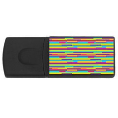 Colorful Stripes Background USB Flash Drive Rectangular (4 GB)
