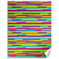 Colorful Stripes Background Canvas 12  x 16