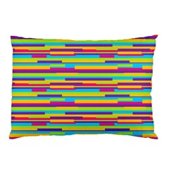 Colorful Stripes Background Pillow Case