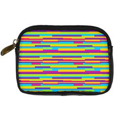 Colorful Stripes Background Digital Camera Cases