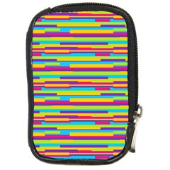 Colorful Stripes Background Compact Camera Cases