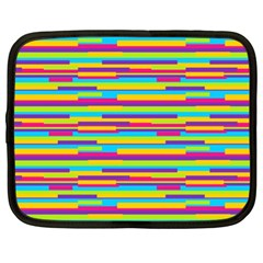 Colorful Stripes Background Netbook Case (XL)