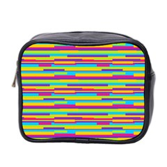Colorful Stripes Background Mini Toiletries Bag 2-Side