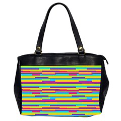 Colorful Stripes Background Office Handbags (2 Sides)