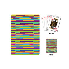 Colorful Stripes Background Playing Cards (Mini)