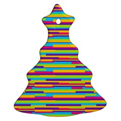 Colorful Stripes Background Ornament (Christmas Tree)