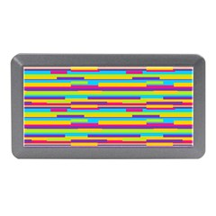 Colorful Stripes Background Memory Card Reader (Mini)