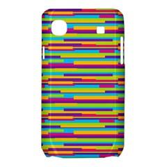 Colorful Stripes Background Samsung Galaxy SL i9003 Hardshell Case