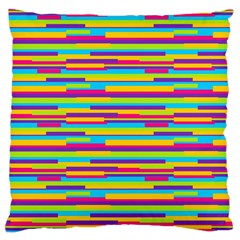 Colorful Stripes Background Large Cushion Case (Two Sides)