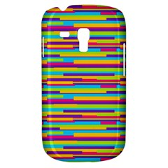Colorful Stripes Background Samsung Galaxy S3 MINI I8190 Hardshell Case