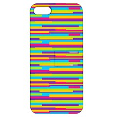 Colorful Stripes Background Apple iPhone 5 Hardshell Case with Stand