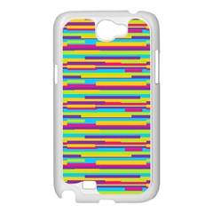 Colorful Stripes Background Samsung Galaxy Note 2 Case (White)