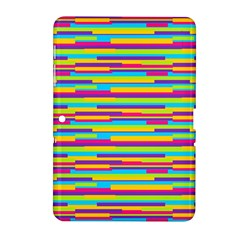 Colorful Stripes Background Samsung Galaxy Tab 2 (10.1 ) P5100 Hardshell Case