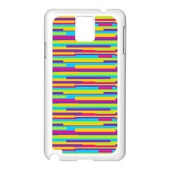 Colorful Stripes Background Samsung Galaxy Note 3 N9005 Case (White)