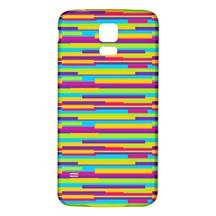 Colorful Stripes Background Samsung Galaxy S5 Back Case (White)