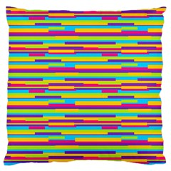 Colorful Stripes Background Standard Flano Cushion Case (One Side)