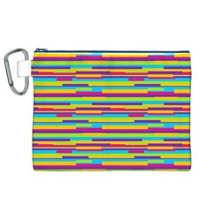 Colorful Stripes Background Canvas Cosmetic Bag (XL)