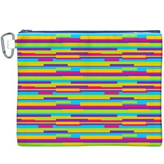 Colorful Stripes Background Canvas Cosmetic Bag (XXXL)