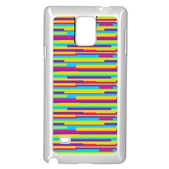 Colorful Stripes Background Samsung Galaxy Note 4 Case (White)