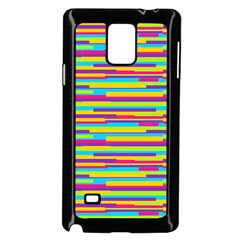 Colorful Stripes Background Samsung Galaxy Note 4 Case (Black)