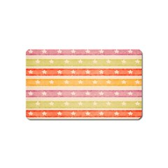 Watercolor Stripes Background With Stars Magnet (Name Card)