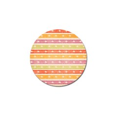 Watercolor Stripes Background With Stars Golf Ball Marker (10 pack)