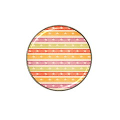 Watercolor Stripes Background With Stars Hat Clip Ball Marker (10 pack)