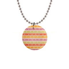 Watercolor Stripes Background With Stars Button Necklaces