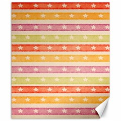 Watercolor Stripes Background With Stars Canvas 8  x 10