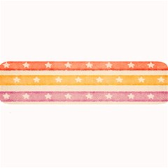 Watercolor Stripes Background With Stars Large Bar Mats