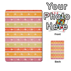 Watercolor Stripes Background With Stars Multi-purpose Cards (Rectangle)