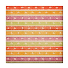 Watercolor Stripes Background With Stars Face Towel