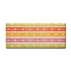 Watercolor Stripes Background With Stars Hand Towel