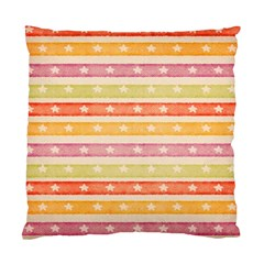 Watercolor Stripes Background With Stars Standard Cushion Case (Two Sides)