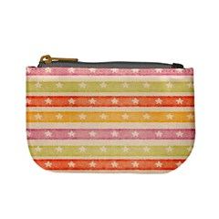 Watercolor Stripes Background With Stars Mini Coin Purses