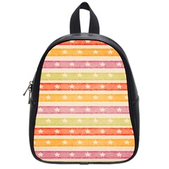 Watercolor Stripes Background With Stars School Bags (Small)