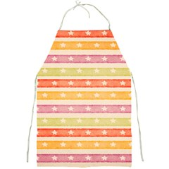 Watercolor Stripes Background With Stars Full Print Aprons