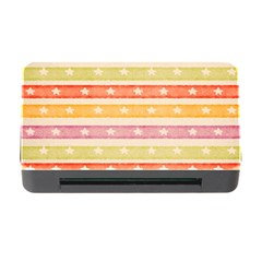 Watercolor Stripes Background With Stars Memory Card Reader with CF