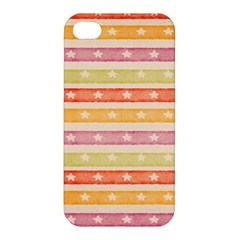 Watercolor Stripes Background With Stars Apple iPhone 4/4S Hardshell Case