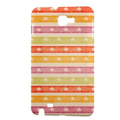 Watercolor Stripes Background With Stars Samsung Galaxy Note 1 Hardshell Case
