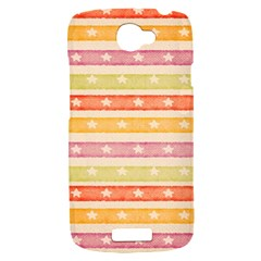 Watercolor Stripes Background With Stars HTC One S Hardshell Case