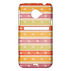 Watercolor Stripes Background With Stars HTC Evo 4G LTE Hardshell Case