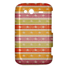 Watercolor Stripes Background With Stars HTC Wildfire S A510e Hardshell Case