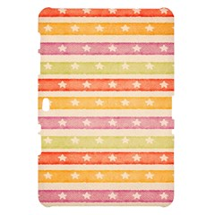 Watercolor Stripes Background With Stars Samsung Galaxy Tab 10.1  P7500 Hardshell Case